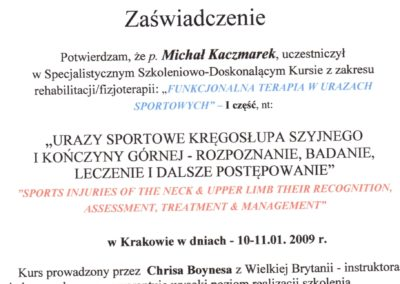 kaczmarek-Diagnostyka i Rehabilitacja w urazach sportowych