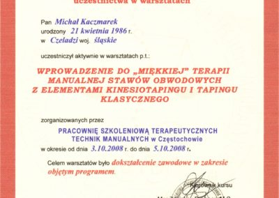 kaczmarek-Miękka Terapia Manualna I