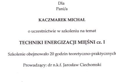 kaczmarek-Techniki Energizacji Mięśni