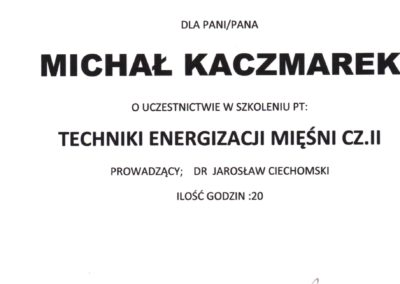 kaczmarek-Techniki Energizacji Mięśni I