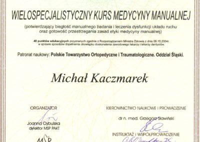 kaczmarek-Wielospecjalistyczna terapia manualna oparta na technikach